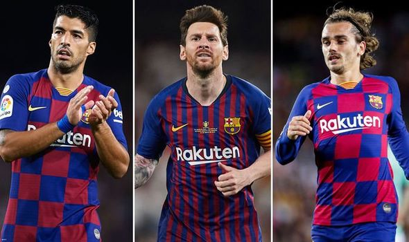Suarez and Griezmann have posted messages for Messi